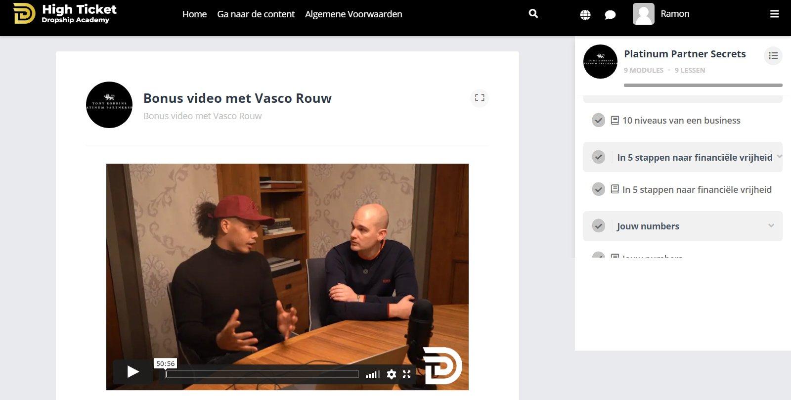 Video Joshua Kaats met Vasco Rouw